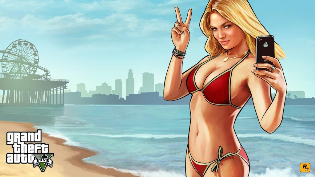 Что за девушка на заставке GTA 5