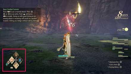 Как переключать персонажей в бою в Tales of Arise